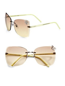 Gucci - Rimless Square Butterfly Sunglasses
