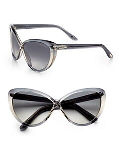 Tom Ford Eyewear - Madison Crisscross Cat's-Eye Sunglasses