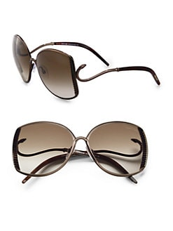 Roberto Cavalli - Amaranto Ridged Metal Sunglasses