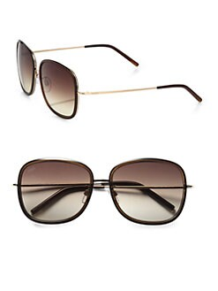 Tod's - Oversized Square Sunglasses/Brown