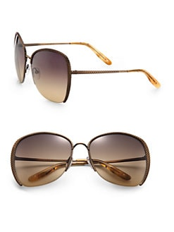 Bottega Veneta - Semi-Rimless Butterfly Sunglasses