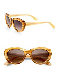 Bottega Veneta - Small Cat's-Eye Acetate Sunglasses