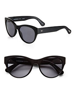 Oliver Peoples - Mande Acetate Round Sunglasses/Black