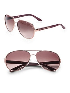 Marc by Marc Jacobs - Stainless Steel Aviator Sunglasses