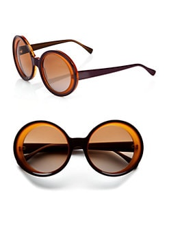 Marni - Oversized Two-Tone Round Plastic Sunglasses