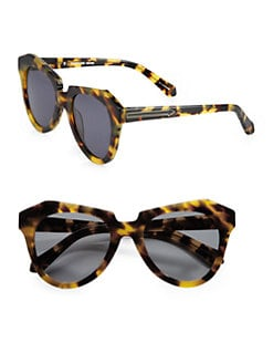 Karen Walker - Number One Tortoise Acetate Cat's-Eye Sunglasses