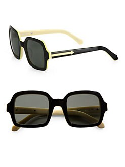 Karen Walker - Cabbie Square Acetate Sunglasses