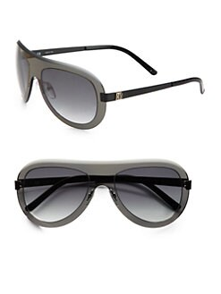 Givenchy - Shield Resin Aviator Sunglasses