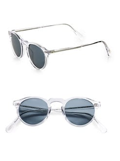 Oliver Peoples - Gregory Peck Oval Plastic Sunglasses/Crystal