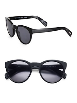 Oliver Peoples - Alivia Oval Polarized Plastic Sunglasses/Black