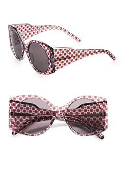 Stella McCartney - Printed Oversized Round Plastic Sunglasses
