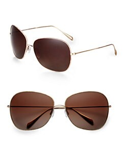 Oliver Peoples - Elsie Oversized Round Sunglasses/Beige