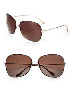 Oliver Peoples - Elsie Oversized Round Sunglasses/Dark Tortoise