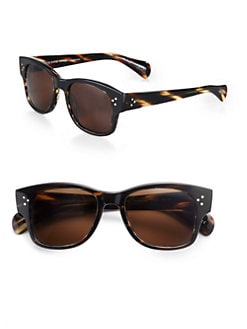 Oliver Peoples - Jannsson Square Acetate Sunglasses/Tortoise