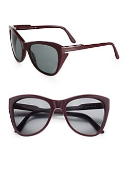 Stella McCartney - Oversized Cat's-Eye Wayfarer-Inspired Plastic Sunglasses