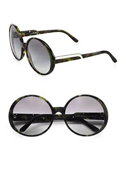 Stella McCartney - Oversized Round Plastic Sunglasses
