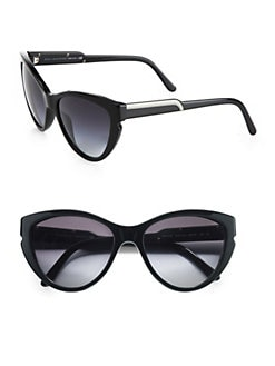Stella McCartney - Notched Plastic Cat's-Eye Sunglasses