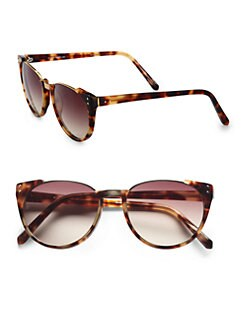 Linda Farrow Luxe - Modified Plastic Cat'e-Eye Sunglasses