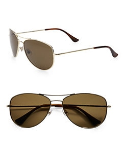 Kate Spade New York - Ally Polarized Metal Aviator Sunglasses