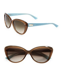 Kate Spade New York - Angelique Two-Tone Plastic Cat's-Eye Sunglasses