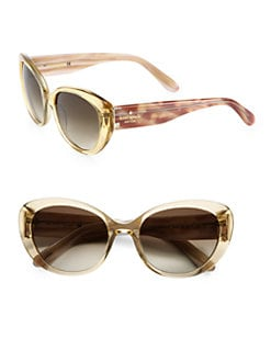 Kate Spade New York - Franca Polarized Cat's-Eye Sunglasses/Champagne