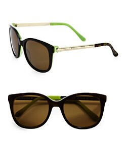 Kate Spade New York - Gayla Plastic & Metal Wayfarer-Inspired Round  Sunglasses