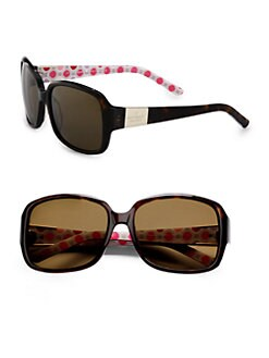 Kate Spade New York - Lulu Rectangular Plastic Sunglasses
