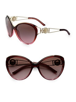 Versace - Medusa Cat's-Eye Acetate Sunglasses