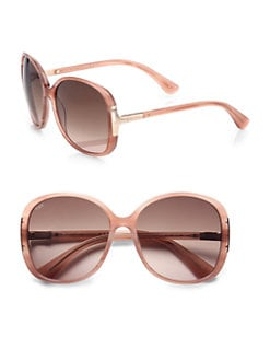 Tod's - Oversized Square Plastic Sunglasses/Rose