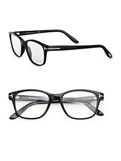 Tom Ford Eyewear - Wayfarer-Inspired Square Plastic Eyeglasses