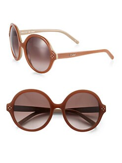 Chloe - Oversized Round Sunglasses