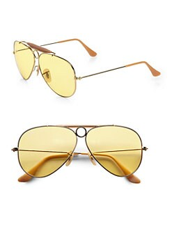 Ray-Ban - Ambermatic Shooter Aviator Sunglasses
