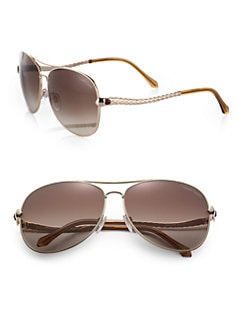 Roberto Cavalli - Metal Aviator Sunglasses