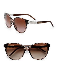 BVLGARI - Cat's-Eye Crystal Acetate Sunglasses
