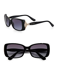 BVLGARI - Square Crystal Acetate Sunglasses
