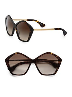 Miu Miu - Star Metal & Acetate Oversized Round Sunglasses