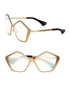 Miu Miu - Brushed Gold Metal Culte Star Sunglasses