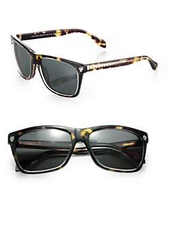 Alexander McQueen - Havana Embellished Plastic Sunglasses