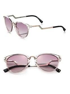 Fendi - Zig-Zag Optyl Round Sunglasses