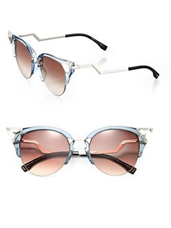 Fendi - Edged Zig-Zag Optyl Cat's-Eye Sunglasses