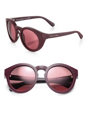 marc jacobs female opal round sunglasses