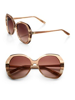 Bottega Veneta - Round Oversized Sunglasses