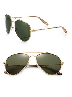 Bottega Veneta - Etched Aviator Sunglasses