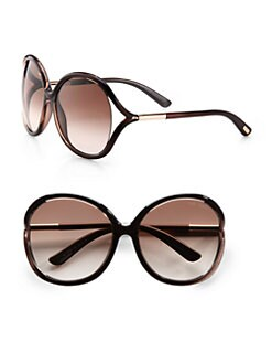 Tom Ford Eyewear - Rhi Oversized Round Plastic Sunglasses