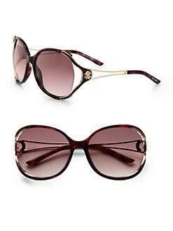 Roberto Cavalli - Clerodendro Round Oversized Sunglasses