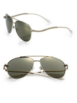 Roberto Cavalli - Serpent Metal Sunglasses/Goldtone