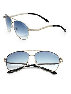 Roberto Cavalli - Serpent Metal Sunglasses/Blue