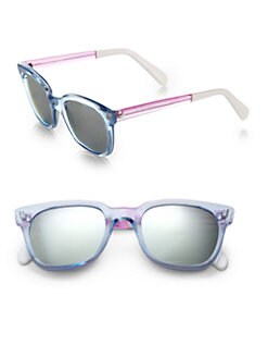 Sheriff & Cherry - Transparent Wayfarer RectangularSunglasses
