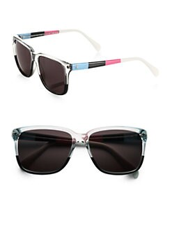 Sheriff & Cherry - Multicolor Wayfarer Square Sunglasses