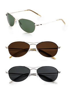 Oliver Peoples - Aero 57 Polarized Metal Sunglasses